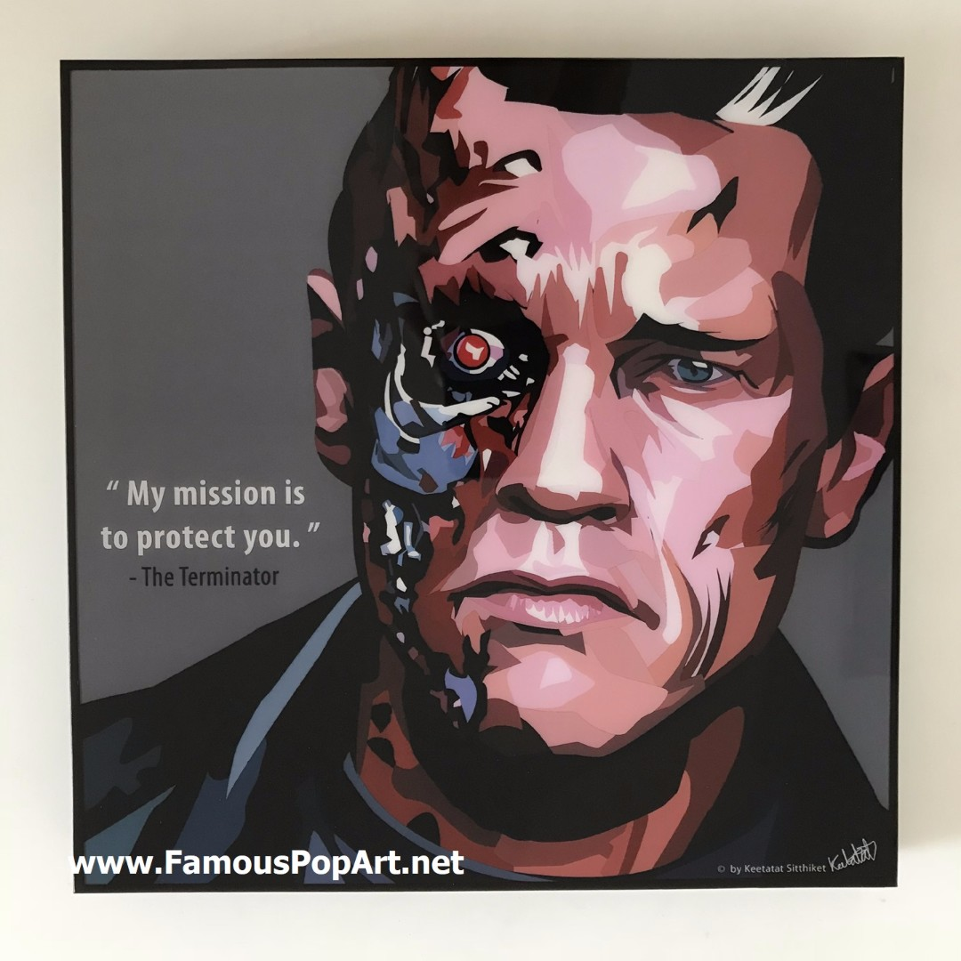 Terminator PopArt Portrait Wall Decoration Pop Art Home