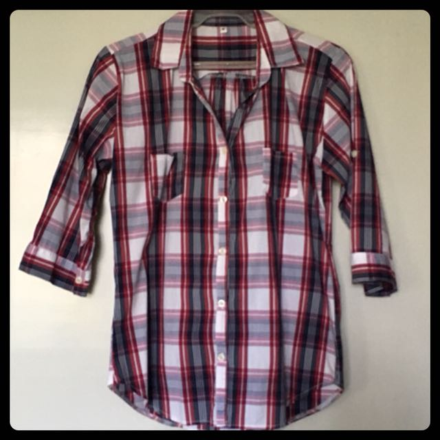Top/Blouse 6: Checkered 3/4