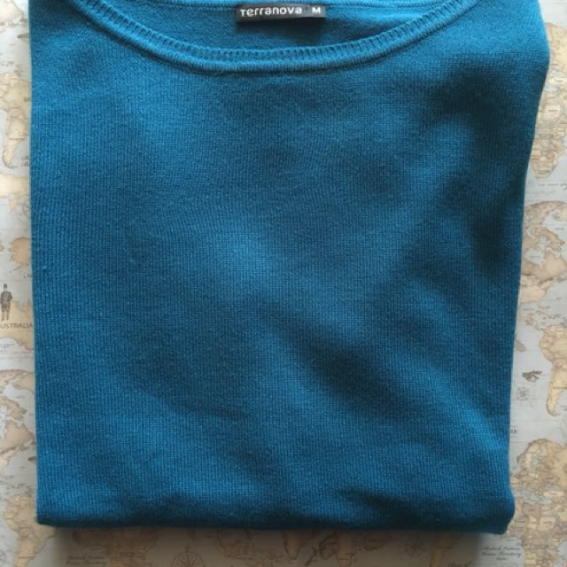 Turqoise pullover sweater