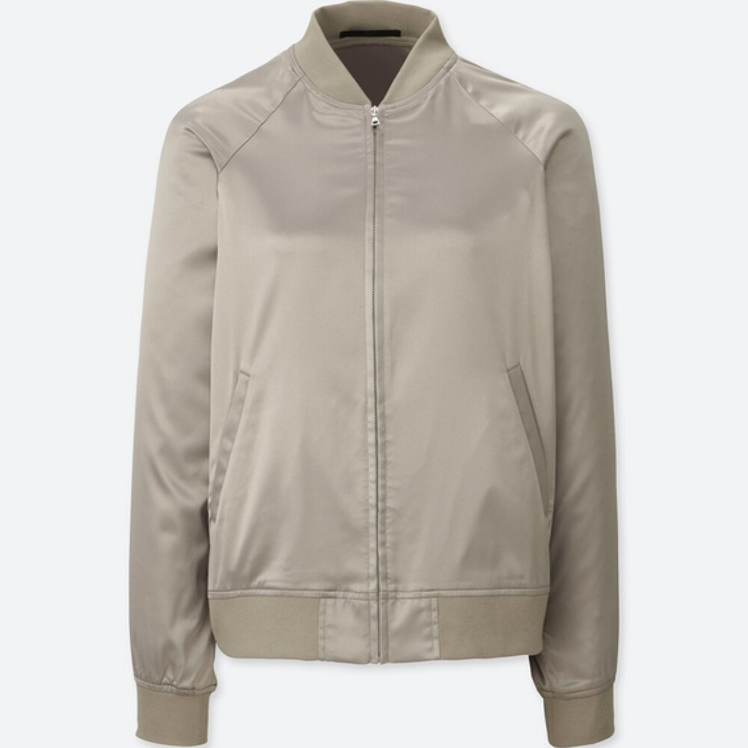 1a207a936 Uniqlo Women Satin Bomber Jacket