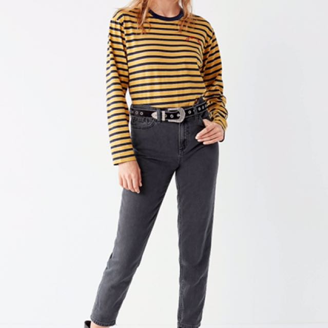 Urban Outfitters Dark Grey Mom Jeans (size 29)