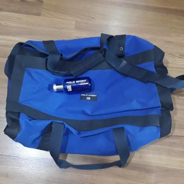 VGUC Polo Sport Ralph Lauren Duffle Bag with Polo Sport Ralph Lauren EDT