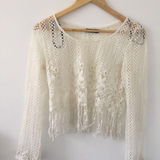 Western style lace shirt