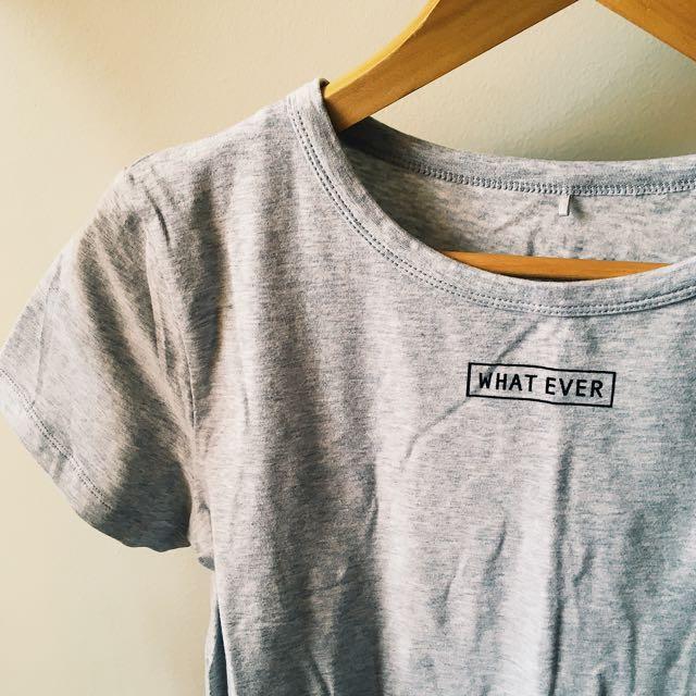 'whatever' clueless inspired graphic sassy t-shirt, women's 10-12