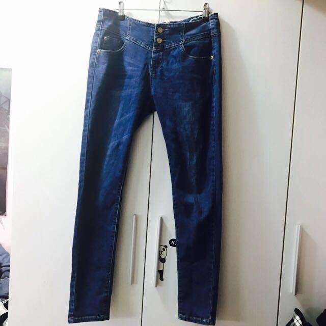 XL深藍牛仔褲 #我的女裝可超取