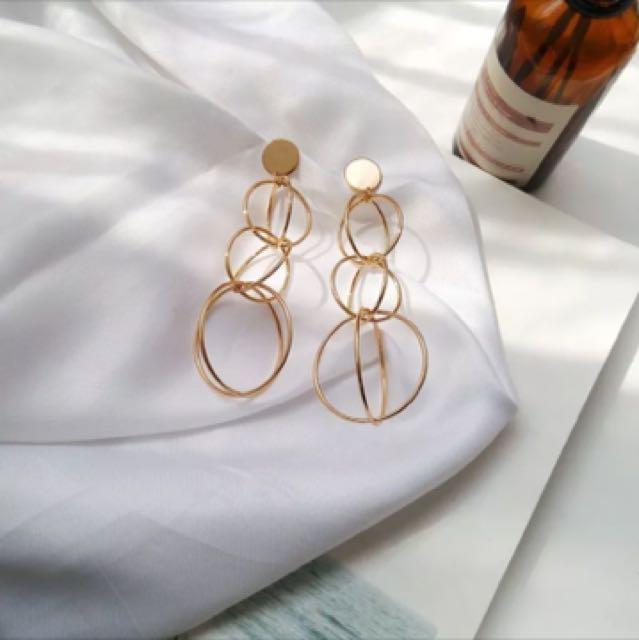 Xmas sale🎉🎉幾何圈圈耳環