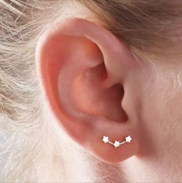 Xmas sale🎉🎉簡約三連星耳環