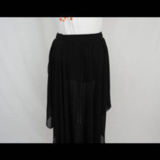 Zara - long black skirt