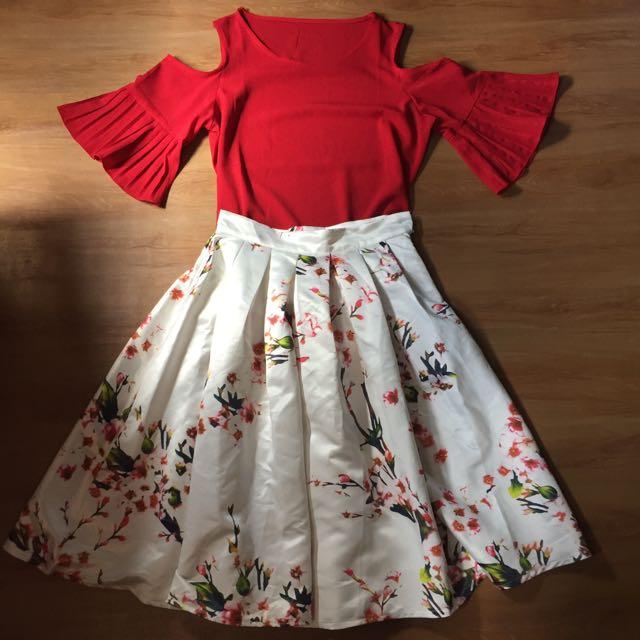 Zara inspired top and skirt