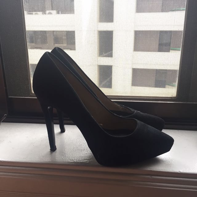 Zara Size 37 Black Sexy shoes