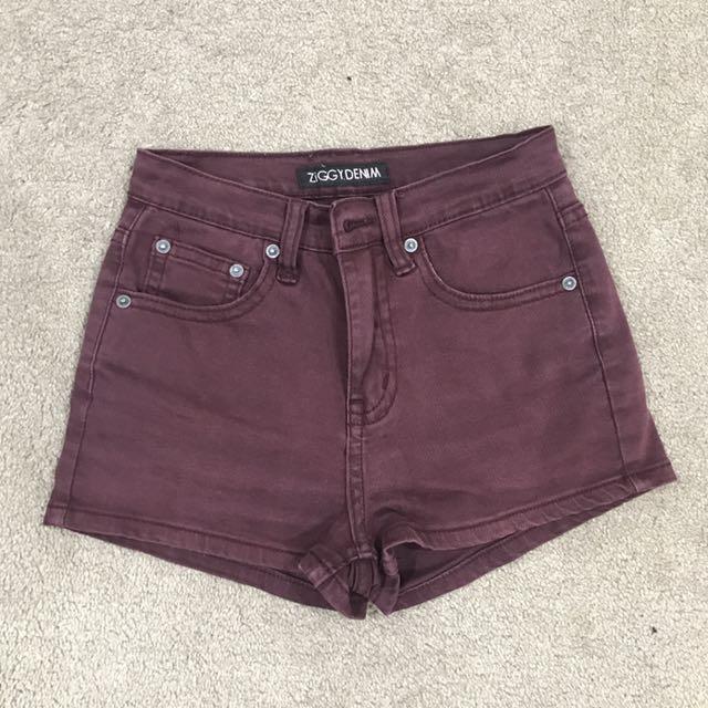Ziggy Maroon Shorts   Size 8