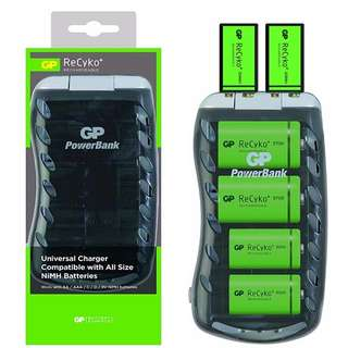 GP UNIVERSAL CHARGER PB19 for AA / AAA / D / C / 9V Ni-MH Rechargeable Batteries