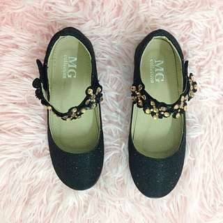 Girls' Shoes in Glittery Black - Size 31