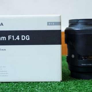 Sigma art 35mm F1.4 DG a-mount Sony
