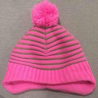 H&M Toddler Pink Stripe Winter Hat