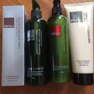 Biosys shampoo hair tonic rebuilder conditioner