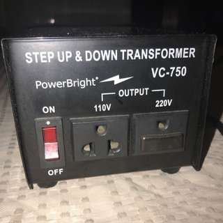 Transformer Set Up and Down VC-750