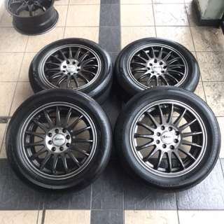 Enkei advanti 15 inch sports rim vios tayar 70% happy2 punya rim