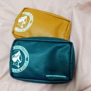 🚚 PORTER 黃色 筆袋 手機包 化妝包
