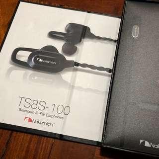 Nakamichi Bluetooth Headset 藍芽耳機 TS8S-100 - 全新