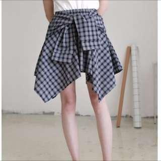 🚚 不規則格子短裙