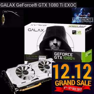 GALAX GTX 1080Ti EXOC White GeForce®.  ( 12.12 Grand Offer Sales till...12 Dec 17....) Hurry Grab it while Stock Last..!!