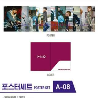 [LOOSE SET] Wanna One Official MD Poster Set