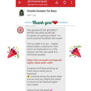 3rd! Thank you, Carousell!❤