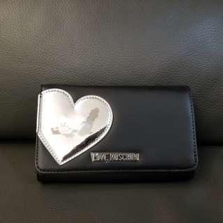 最後價 Love Moschino  限量版銀包心心銀