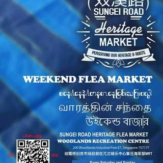 结霜桥旧货市场 Sungei Road Heritage Flea Market is now at Woodland Recreation Centre on every Weekend