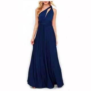 Long formal Infinity Dress (Navy Blue)