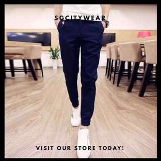 🔥$20 [Instock] A0005 Smart Casual Jogger Pant(Navy Blue)