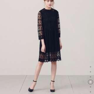 🚚 全新 PAZZO LADY CHIC蕾絲洋裝 氣質