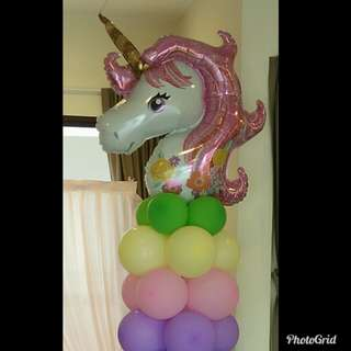 Unicorn birthday balloons customise
