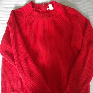Red Sweater with zip back detail