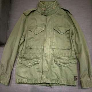 🚚 RALPH LAUREN DENIM & SUPPLY 正貨 帥氣復古印地安 軍綠夾克
