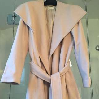 Club Monaco Brand New Wrap Coat - cashmere+wool M/L (mid calf length)