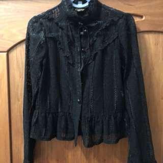 黑色蕾絲襯衫