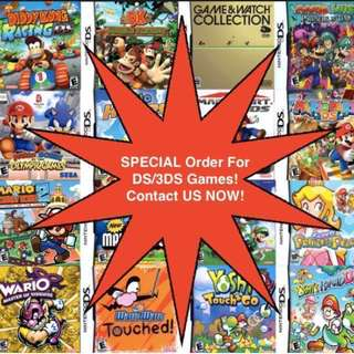 Special Orders For DS/3DS/GBA Game Service