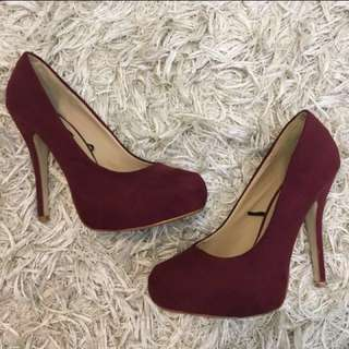 Burgundy Heels Size 9