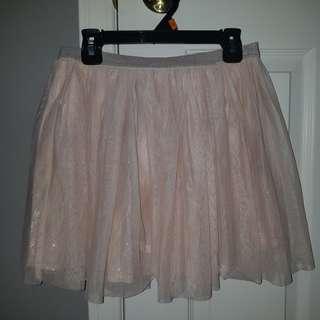 Joe Fresh pink sparkly skirt