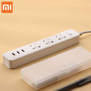 #OCT10 100% GENUINE Xiaomi Power Strip Outlet 3 Socket 3 USB 2.1A Power Extension