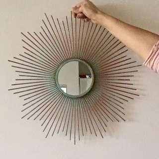 Vintage sunburst mirror