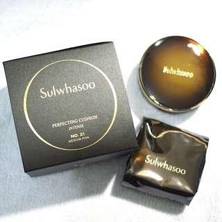 韓國 雪花秀 Sulwhasoo Perfecting Cushion Intense 緻美臻顏氣墊粉底液 (鏡盒+2個粉芯) 全新連盒
