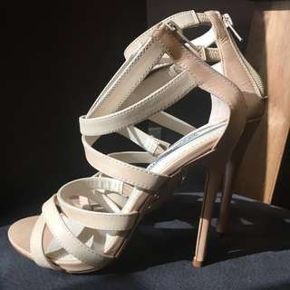 Windsor Smith nude stiletto strappy heels, style 'calm', size 7