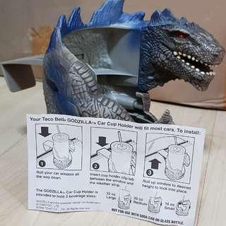 Godzilla car cup holder
