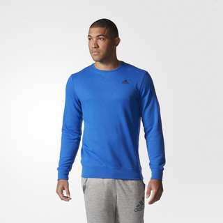 Adidas Mens Sport Essentials Premium Crew Fleece - Blue