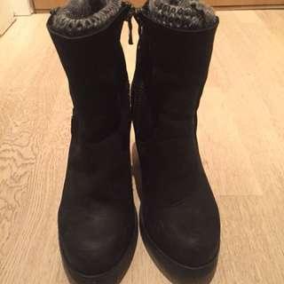 Steve Madden black sweater boots