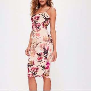 Missguided floral midi dress