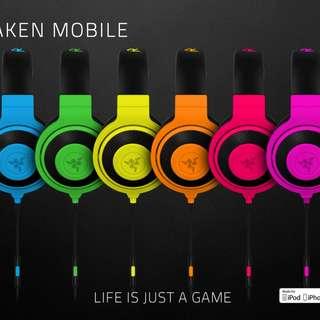 Razer pink Gaming Headset (Neon edition)